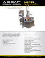 1085SS High Speed Food Slicer